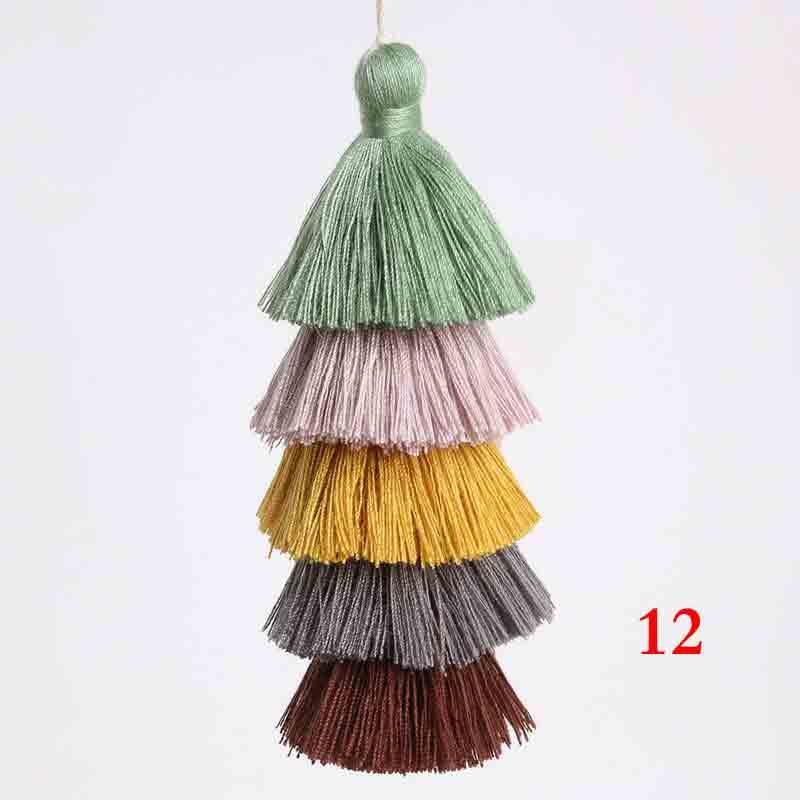 6 PZ Lotto Five Layer Nappe Silk Fringe Bangs Flower Nappa Trim Nappe decorative per tende Decorazione domestica Accessori H Jllngnn
