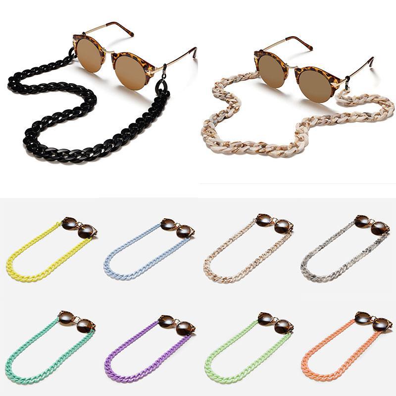 Nuovo acrilico occhiali da sole a catena delle donne Occhiali da lettura Hanging catena del collo Largand Occhiali catena degli occhiali cavo eyewear accessori