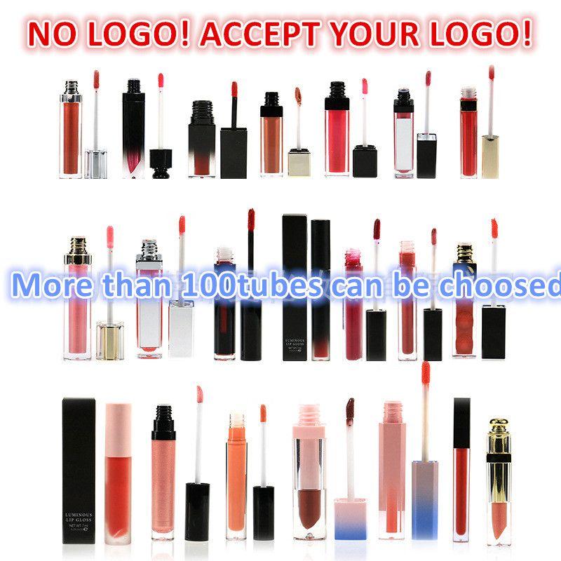 Nessun logo! Personalizzato 60 colori Lip Gloss Gloss Impermeabile Lighting Liquid Liquid Rossetto Accetta il tuo logo!