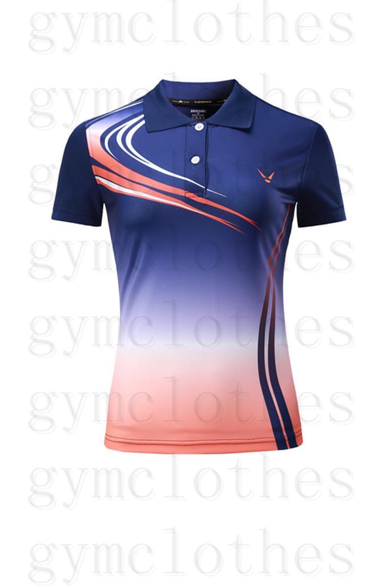 Badminton desgaste t-shirt de mangas curtas de secagem rápida Correspondência de cor impressões Sportswear Jerseys000006