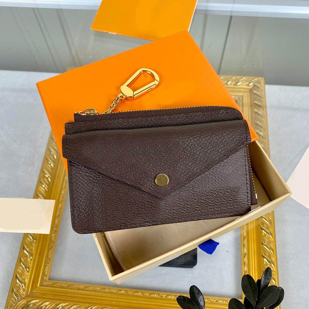 Ladies zippy credit card wallets coin purse pouch borsa di lusso genuine leather wallet Empreinte Recto Verso Coin Purse portefeuille holder