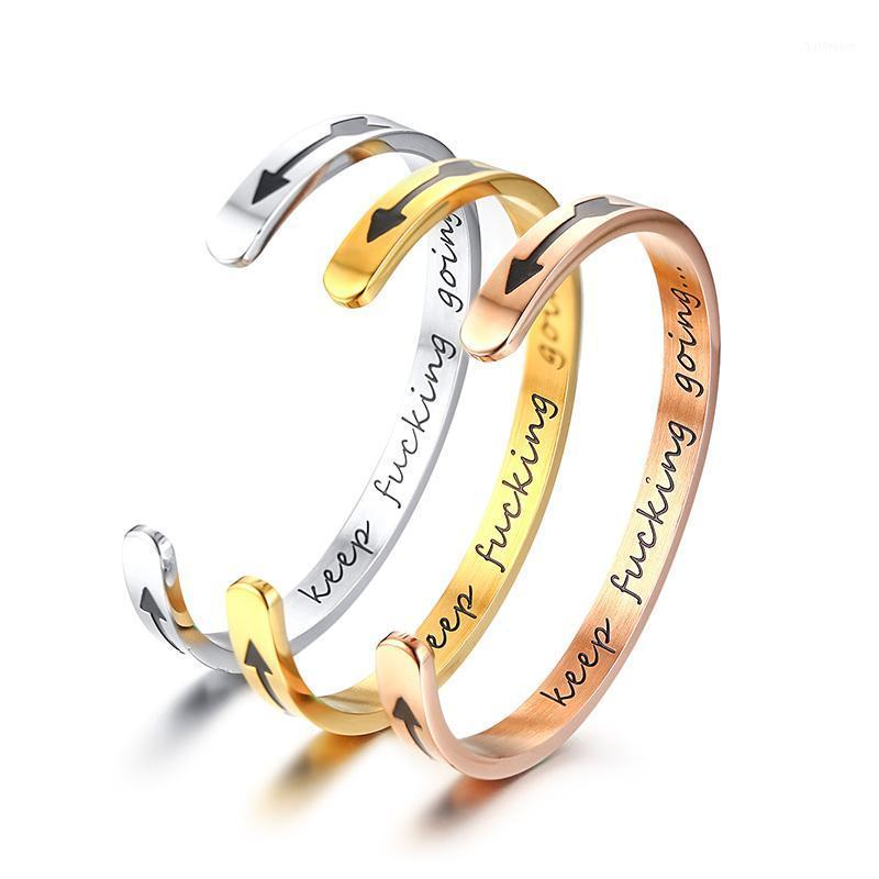 Новое Прибытие Вдохновляющие браслет Женщины 6 мм Ширина Ширина из нержавеющей стали Выгравированные Слова Лучший друг Gifts1