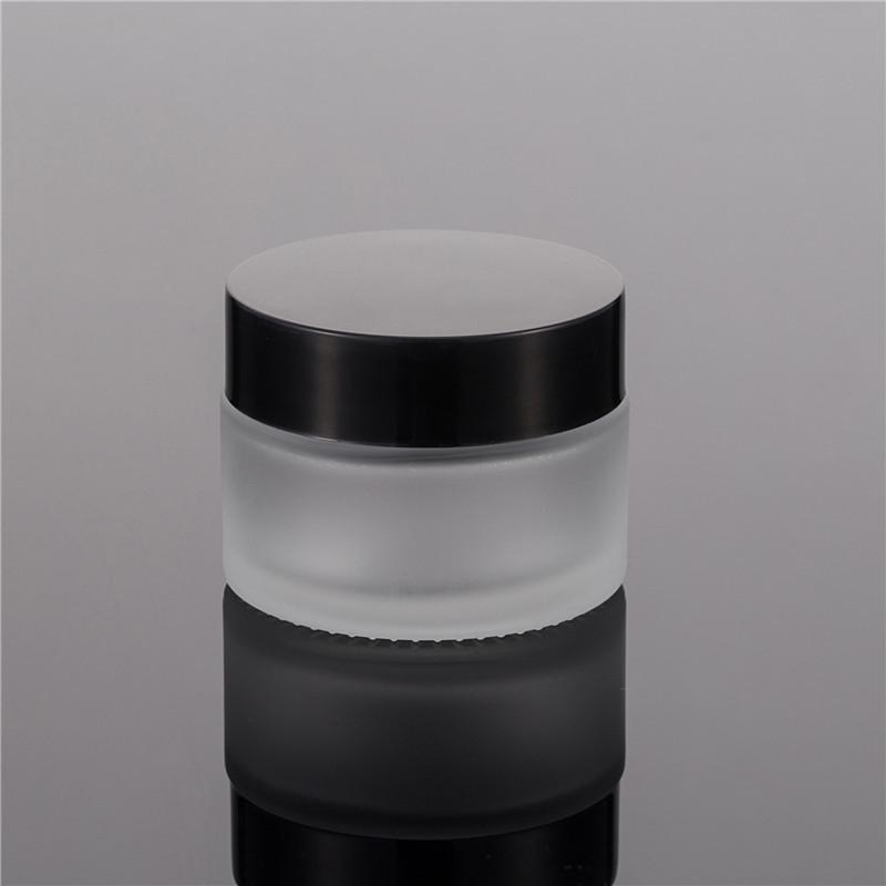 100g fosco frasco de creme de estimação com tampa lustrosa preta, frasco de máscara de 100ml, garrafa de creme, garrafa cosmética WB3323