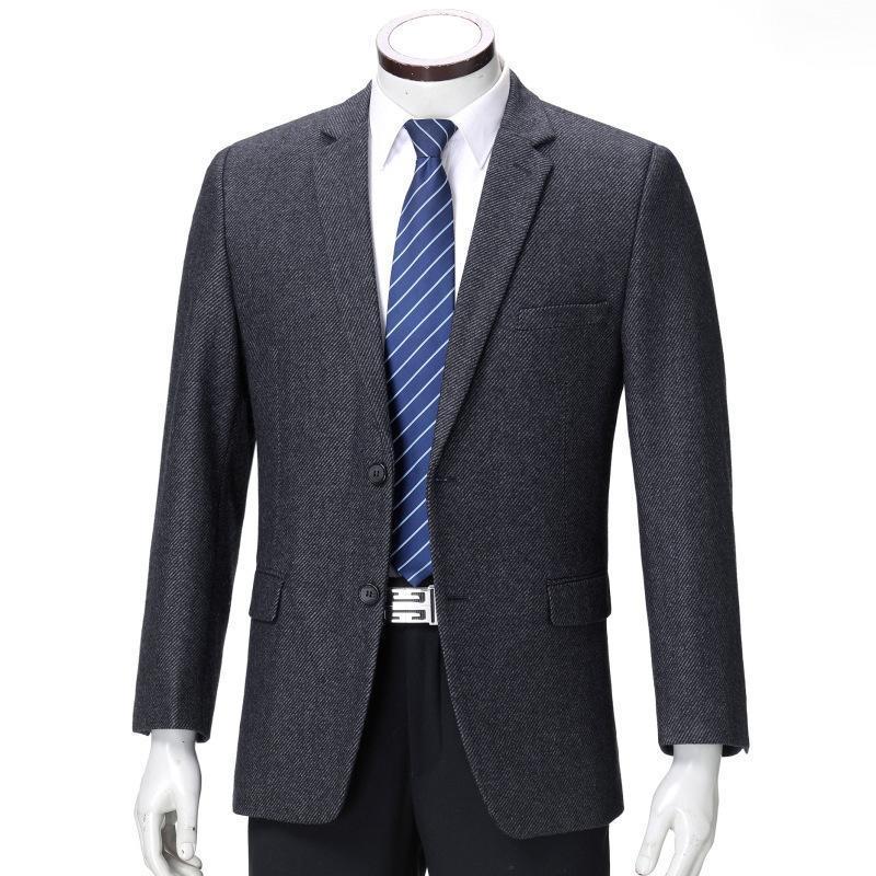 FreeshippingBrand Jacket de traje de ocio Traje de lana de mediana edad Ropa de hombre de cultivar Moralidad Hombre Primavera nueva capa
