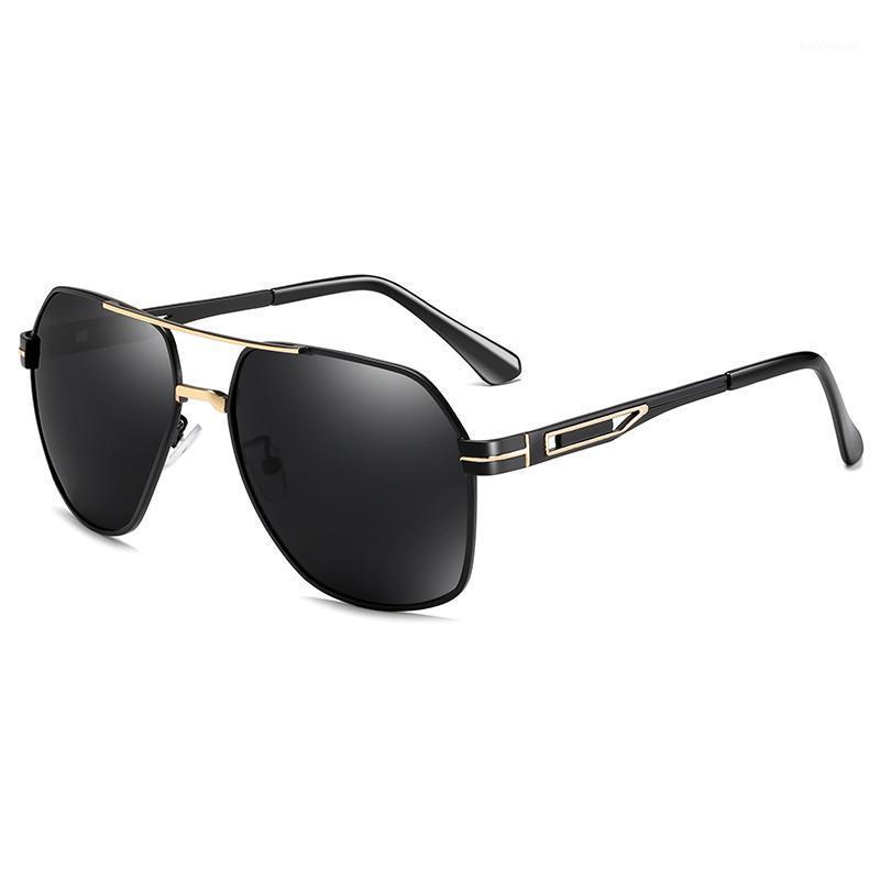 Hombres polarizados gafas de sol diseño de marca clásico metal hombres conduciendo gafas de sol macho UV400 Sunglass Shadewear1