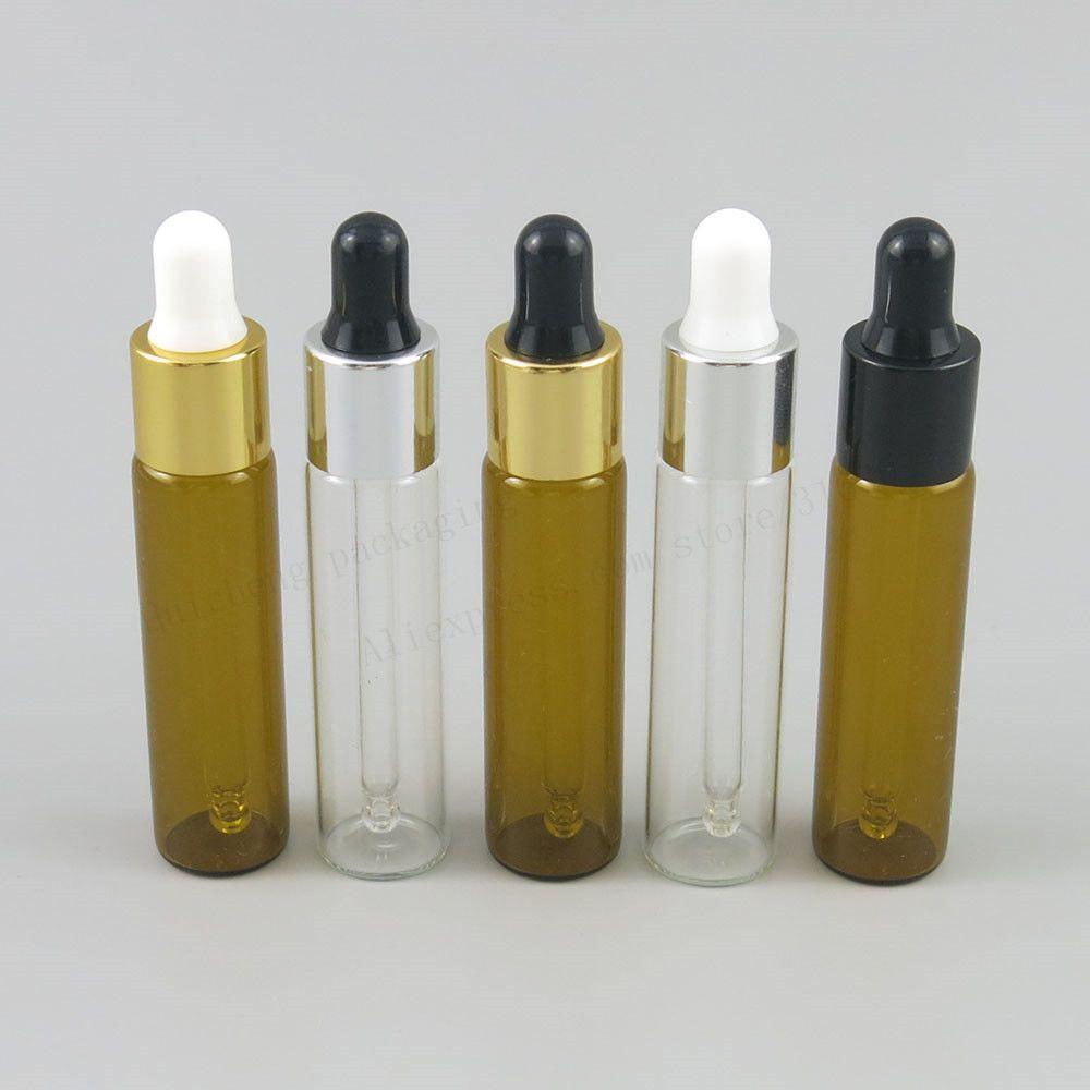 Promocja 5 SZTUK 8ml kroplomierza oczu Wyczyść Aromaterapia Essential Oil Oil Piepette Drop Butelki Narzędzie 8CC Amber Szkło Ciecz Fiolka