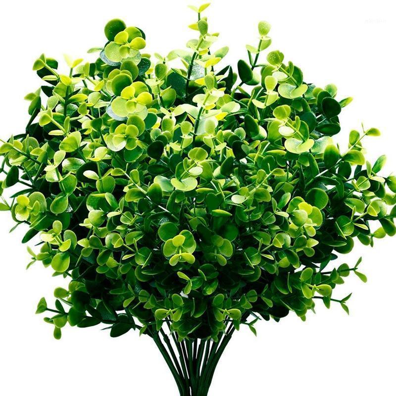 Yapay Bitkiler Faux Boxwood Çalılar 6 Paket, Gerçekçi Sahte Yeşillik Yeşillik Yeşillik Bahçe, Veranda Yard, Düğün, Offi1