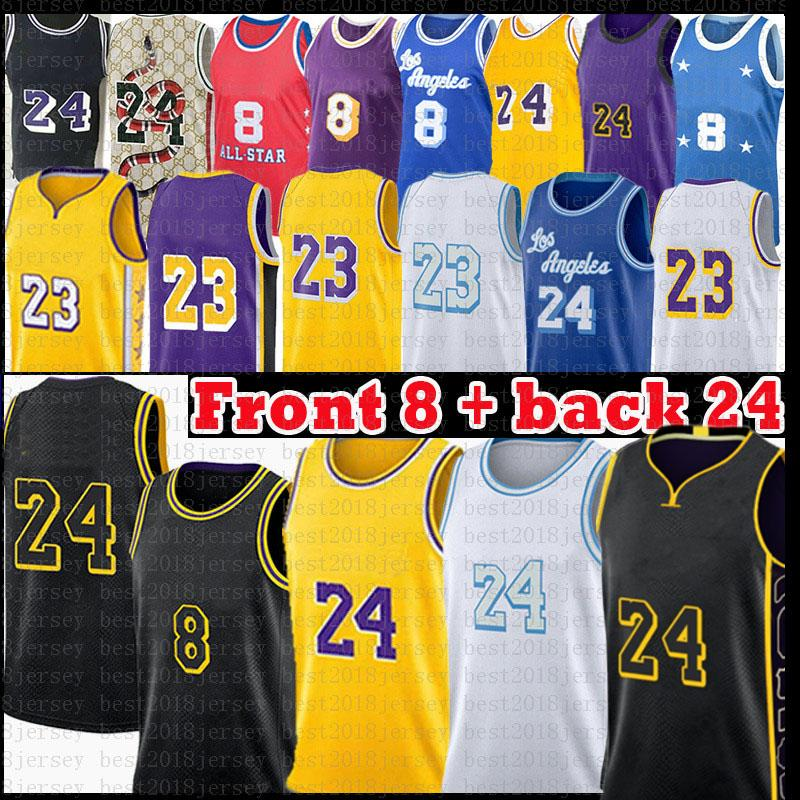 LOS 23 Angeles 24 8 Jersey de Basquete Anthony 3 Davis Kyle 0 Kuzma 32 34 Alex 4 Black Caruso Mamba Jersey 2021 New Black White Mens Gold