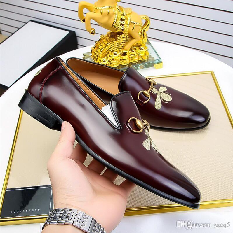 C5 21SS Moda Scarpe Designer Designer Uomo Mocassini in pelle nappa di nozze Party Shoes Office Maschio Abito da esterno Abito da uomo Scarpe da uomo Big Size 38-45 Zapatos 22