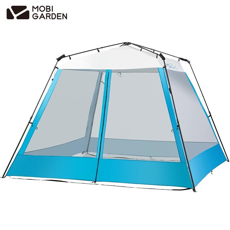 MobiGarden Lingdong Automatic Pavilion 210 Quick Fast Sunscreen UV40+ Rainproof Outdoor Parties Camping Family Tent NX20561015
