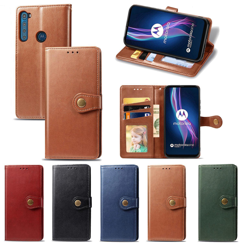 Business Style Phone Case for Moto One Fusion-Plus z klapką magnetyczną Klamra Business Style Hand Strap (Model: One-Fusion-Plus)
