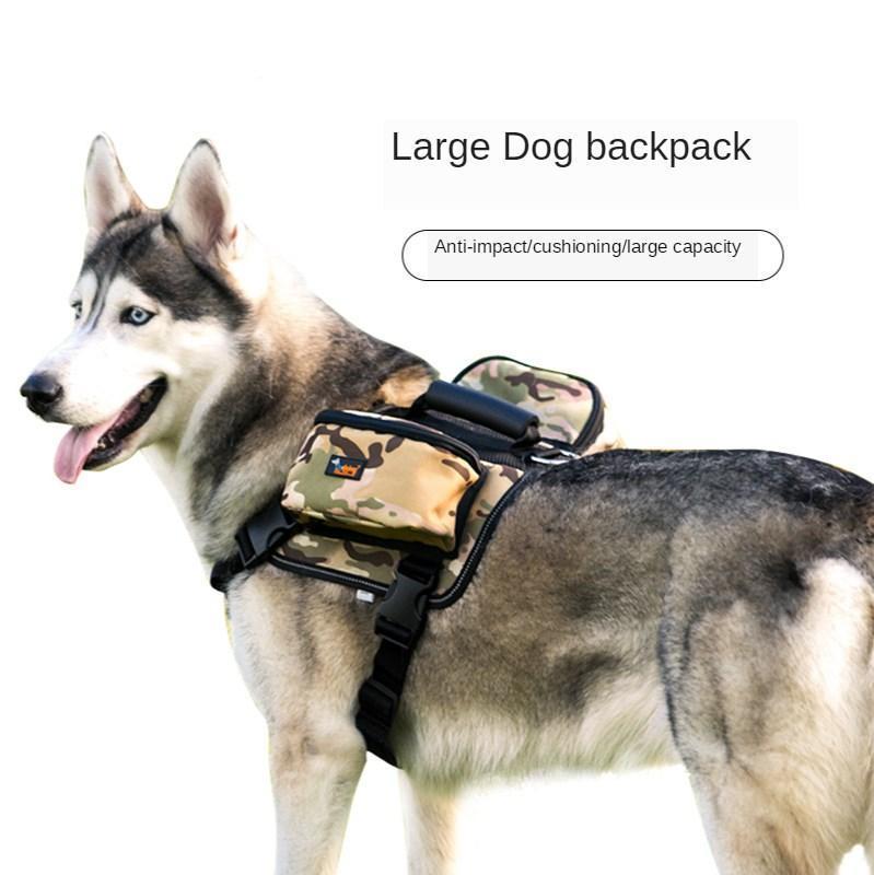 Grandes acessórios multi-bolso e cão mochila harness médio tração auto colete trackpack impermeável xhvio