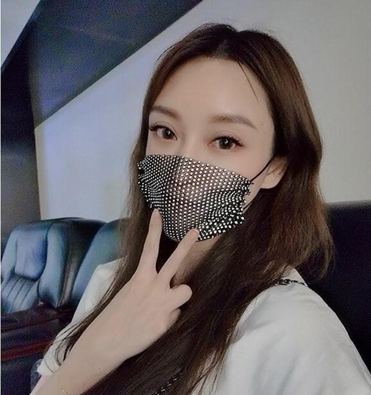 Máscara adulto prevenir lady cara lentejuelas de moda máscaras reutilizables anti niebla neblina mujer EWF705