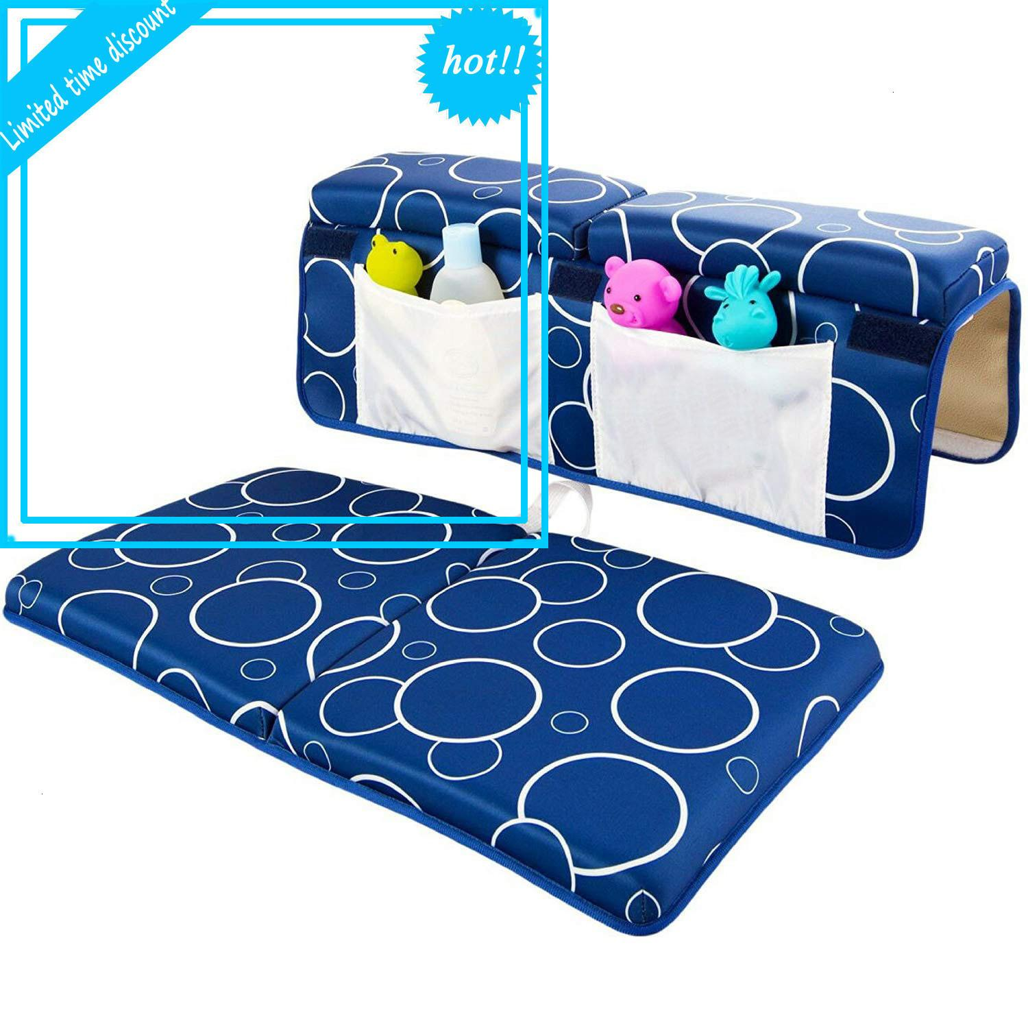 Washable baby bath Kneeler with elbow rest pad set