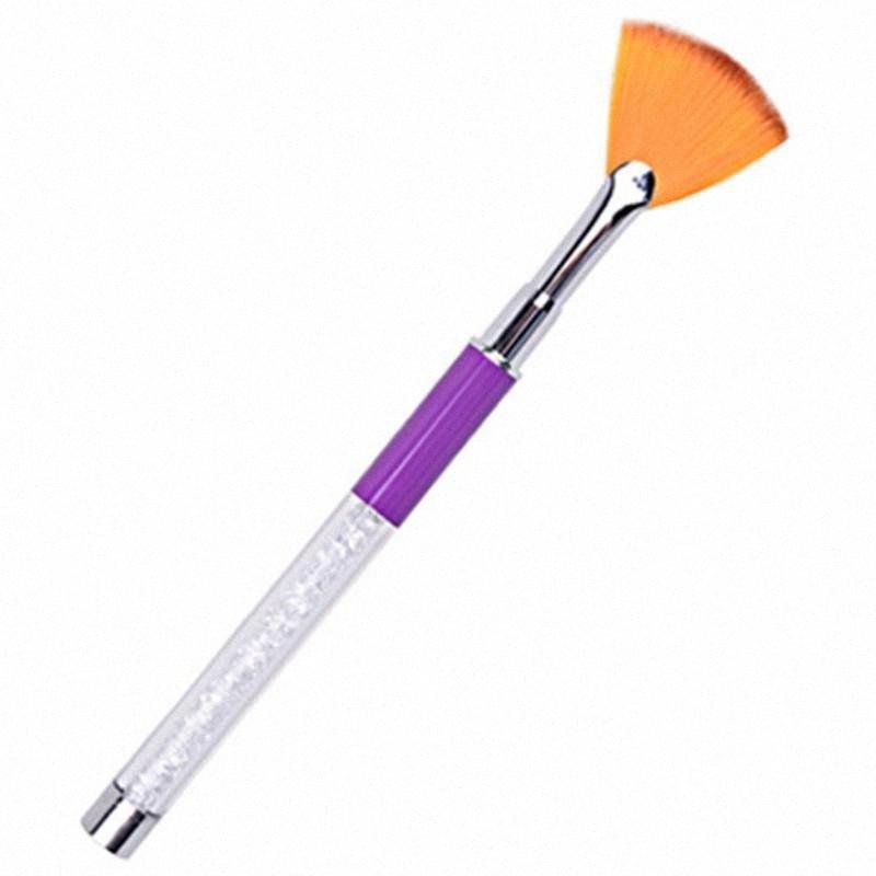قضيب الأرجواني حفر القلم مروحة على شكل مسمار الفن فرشاة الأشعة فوق البنفسجية هلام متدرجة اللون لوحة 3D أظافر نصائح صورة رسم القلم rrNI #