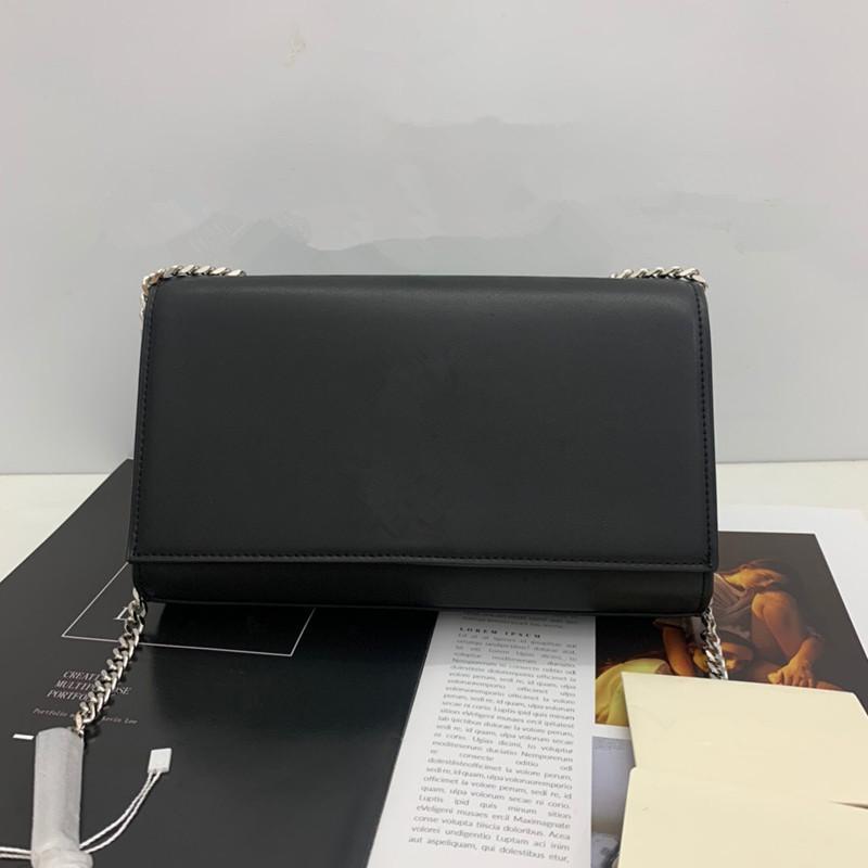 Berühmtes Designer-Handtasche Schaffell Metallkette Gold und Silber Designer Luxuxhandtasche Ledertasche Flip diagonal Umhängetasche freies Verschiffen