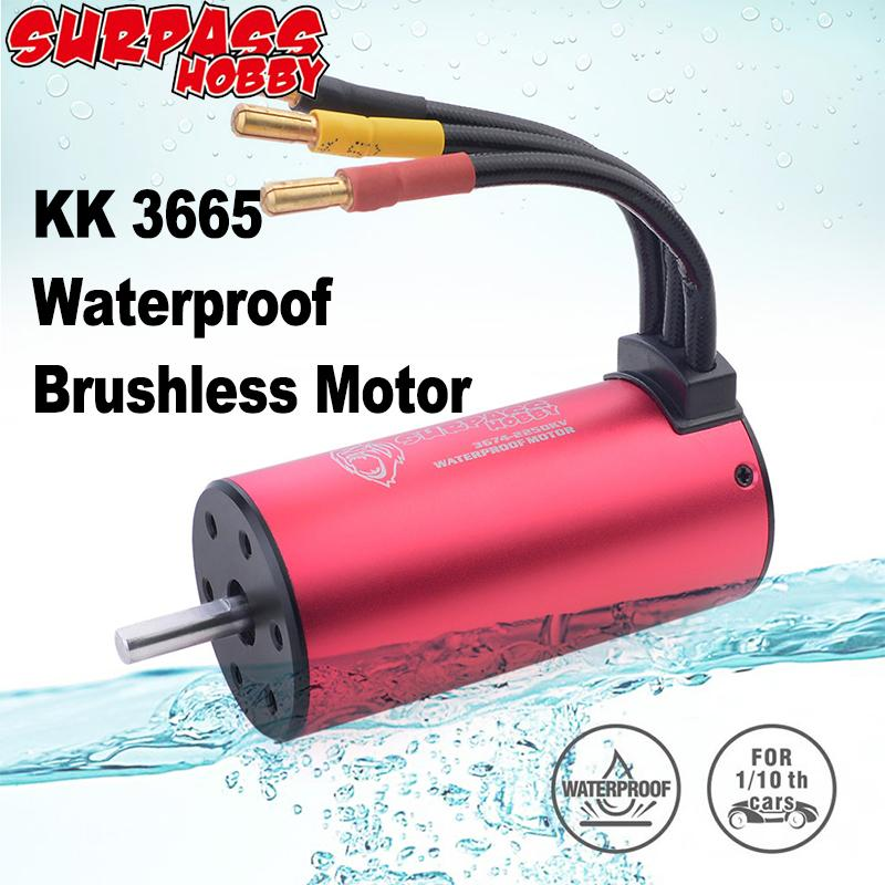Surpass Hobby Waterproof 3665 Brushless Motor 5.0mm 1800KV 2300KV 3100KV 80A ESC for 1/10 2S 3S RC Drift Racing Off-road Car