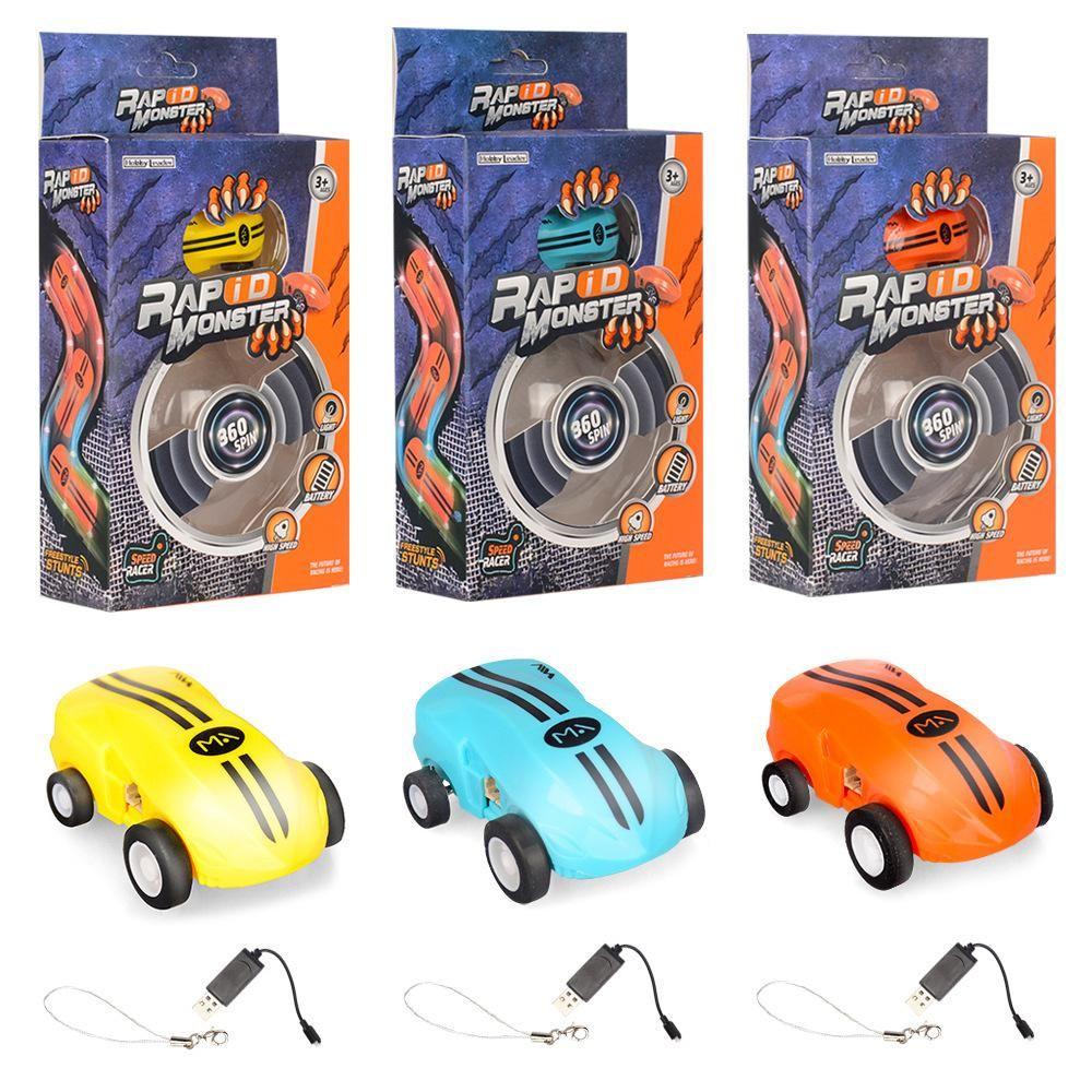 Bonis Elektro Laser Chariot Spielzeug, High Speed Racing Stunt Car, 360 ° Trudeln, Zwei-Gangschaltung, bunte Lichter, Boy Weihnachten Kid Geburtstags-Geschenke, 2-2