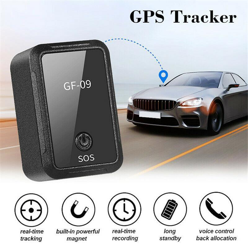 NUEVO GF-09 MINI GPS Tracker Control de aplicaciones anti-robo Localizador de dispositivos magnéticos Grabador de voz para vehículo / automóvil / persona Ubicación