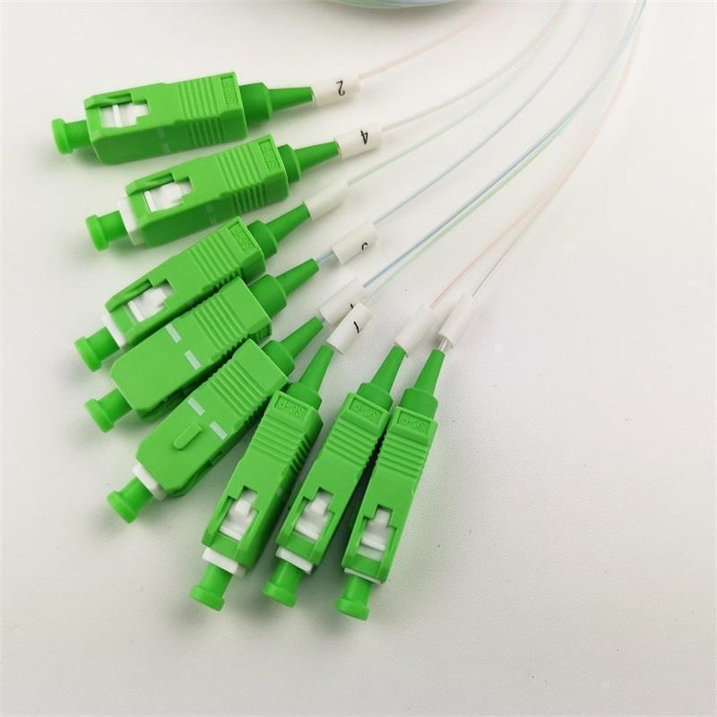 50 Stück SC APC Single Mode Faser Optische FTTH 0.9mm Mini PLC Splitter 1x81