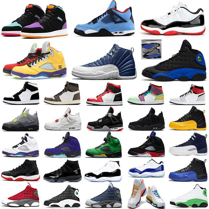 nike air jordan retro 1 jumpman 1 aj1 Männer Frauen Basketballschuhe Segel 4 gezüchtete 11s reflektierende 13 Indigo 12 Alternate Grape 5 Herren Trainer Sport Turnschuhe