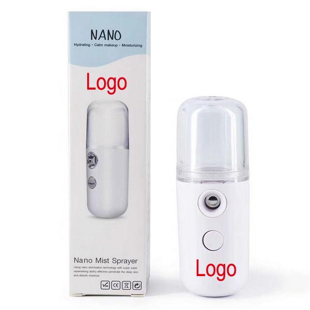 شعار UP019 الخاصة 30ML البسيطة نانو البخاخ الوجه USB رذاذة الوجه الباخرة مرطب مرطب للنساء مستحضرات التجميل الجلد أدوات العناية