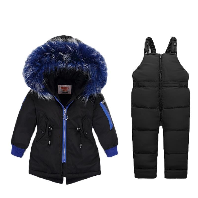 -30 градусов зимний детский комбинезон для детей мальчиков вниз куртка 2 шт. Установите пальто для девочки теплые детская одежда младенческая фундамент 201126