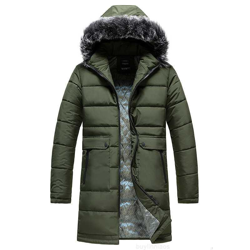 Kragen 20 Farbe Mode Solide Marke mit Kapuze mittelgroß Länge junge Männer verdickte Mantel Baumwollkleidung