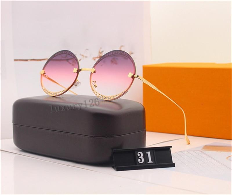 Brands Design Lunettes de soleil polarisées Femmes Lunettes de soleil 31 Lunettes de soleil design ovales pour hommes Protection UV Verres de résine 6 couleurs avec boîte