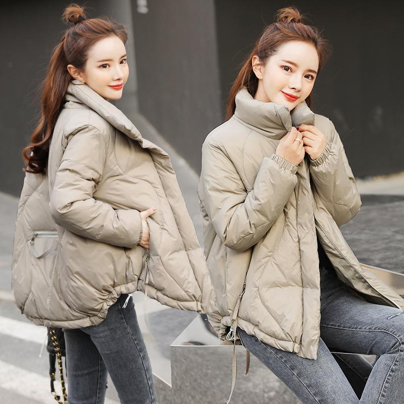 2021 womens winter solid coats womans cotton casual jackets warm parkas female overcoat coat warm womens casual top M540