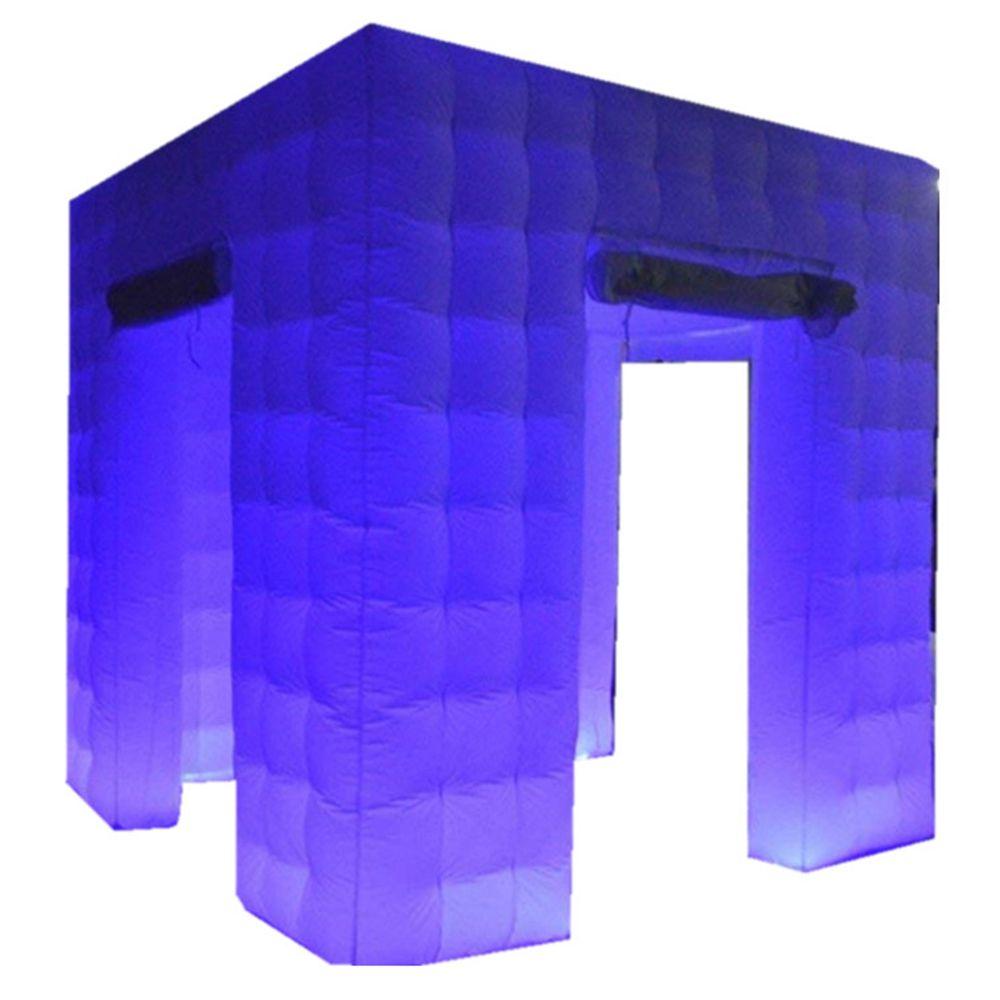 Atacado LED Tira Ar Elegante Foto Cabine Beber Photo Booth Cabine Selfie Count Digital Casa com 3 portas texto livre