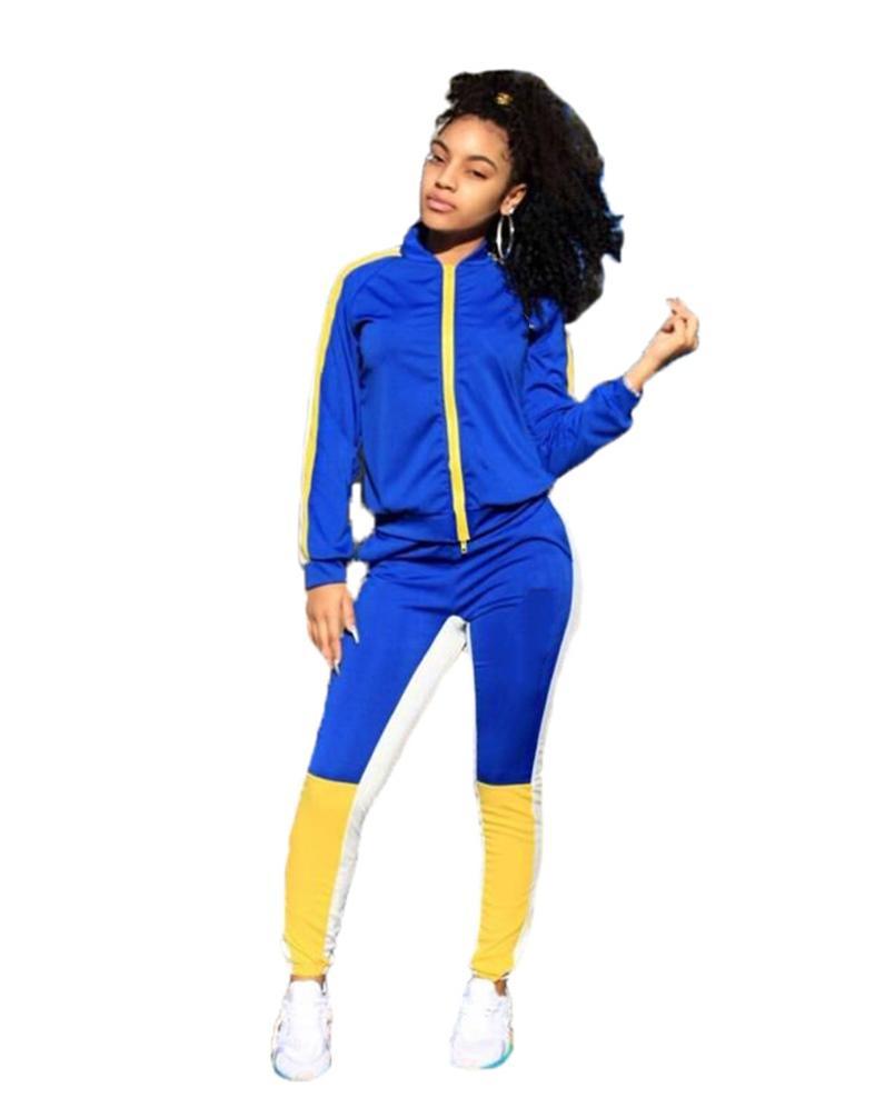 النساء رياضية مثير طويلة الأكمام 2 قطعة الرياضية اللياقة البدنية مريحة ملابس فاخرة بسيطة جودة عالية فريدة بسيطة klw5121
