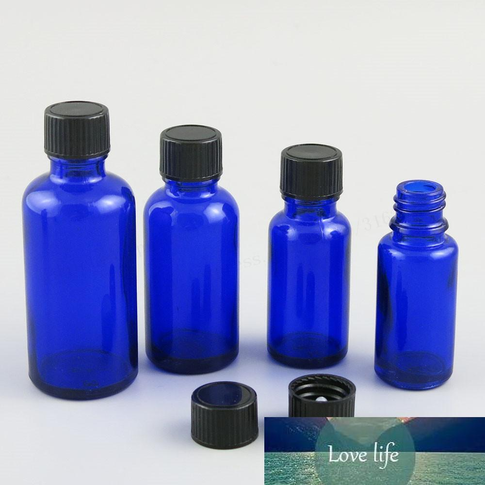 200 x 5ml 10ml 15ml 20ml 30ml 50ml 100ml Cobalt Blue Glass Bottle with Black Phenolic Cone Cap 1oz Blue Cosmetic Containers