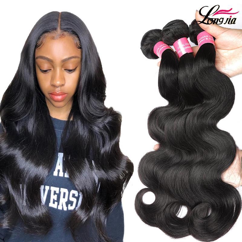 Não processado Virgin Pervuvian onda do corpo Cabelo Pacotes cabelo humano tecer natural, preto não transformados Cabelo de Preços por Atacado
