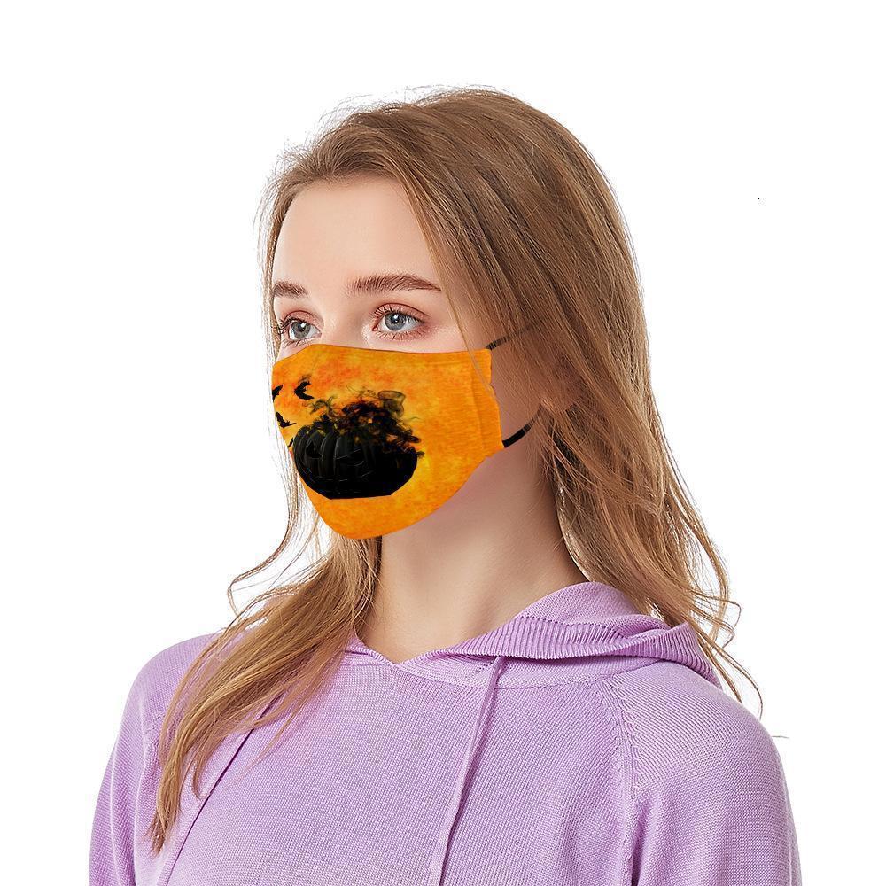 Máscaras del partido de Halloween del almacén de los EEUU Jocker adulto Cara algodón ciclo al aire libre a prueba de polvo Diseñador PM2.5 horror Boca Máscaras FY9183