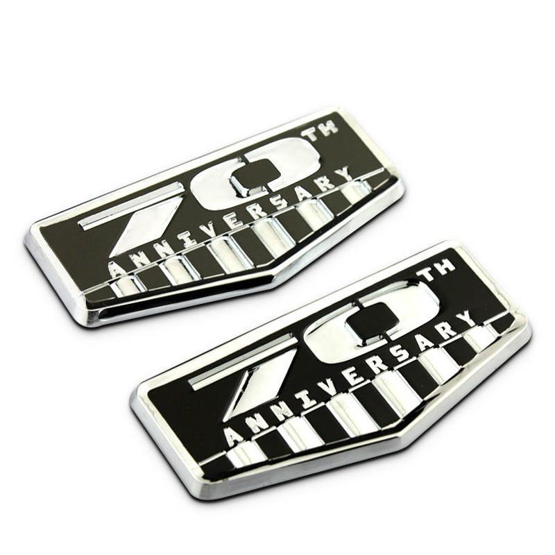Per Jeep Compass Grand Cherokee Wrangler Patriota Il 70 ° anniversario Souvenir Commemorata Auto Badge Auto Sticker Accessori