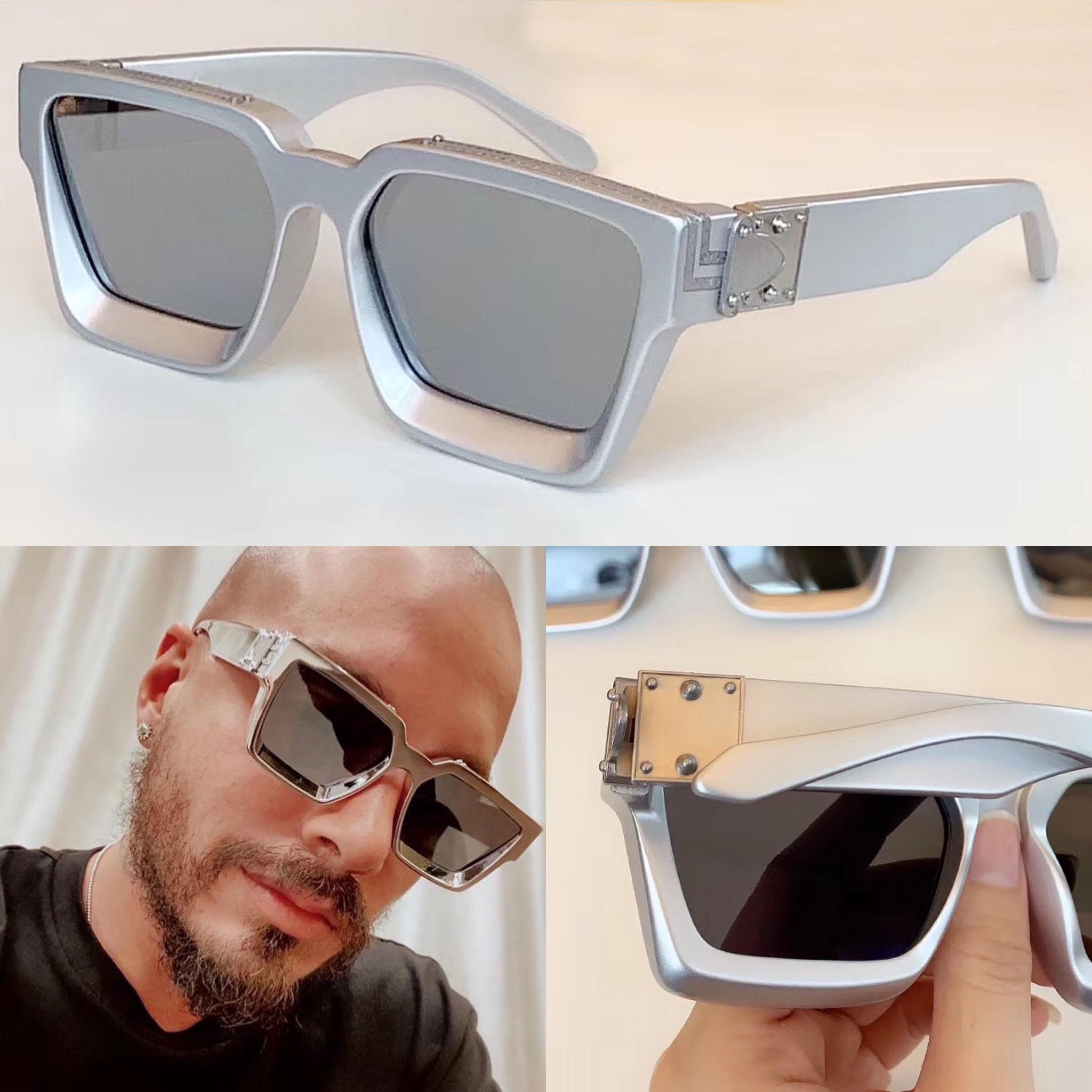 Popüler Moda Tasarım Güneş Gözlüğü Milyoner Kare Gümüş Çerçeve Klasik Tasarım Yeni Renk En Kaliteli Açık Avant-Garde UV400 Lens 1165
