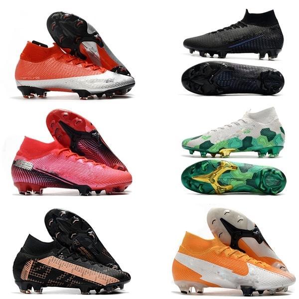 Mercurial superfly vii 7 النخبة 360 fg soccer shoes cr7 se فلاش نيمار رجل chaussure دي القدم أحذية كرة القدم عالية الكاحل المرابط