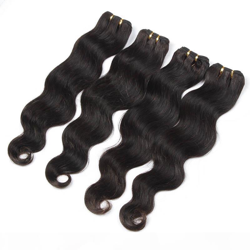 """% 100 Perulu İnsan Saç Dokuma 6a Perulu Vücut Dalga Saç Ürünleri 10-30"""" İşlenmemiş Bakire Saç Uzantıları 100g 1 Adet"""