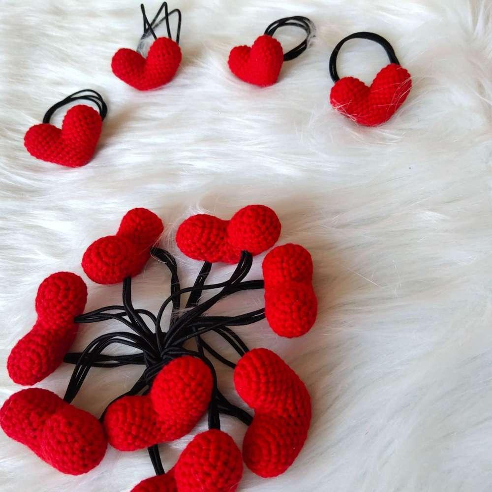 Ningning шерсть вязание крючком DIY чистый ручной работы творческая личная любовь петля волос веревка милая