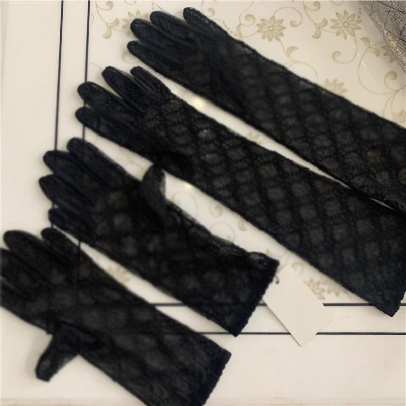 Роскошные длинные кружева невесты свадебные перчатки свадебные перчатки кристаллы свадебные аксессуары кружевные перчатки для невест пять безрезультатно запястья