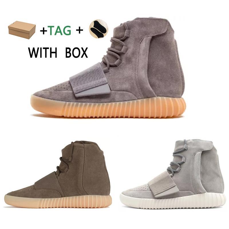 2021 Novo 750 Sapatos de esportes ao ar livre para homens Kanye West Hot vendendo 750 sapatos Skates Sneakers High Top Melhor Qualidade Atlético