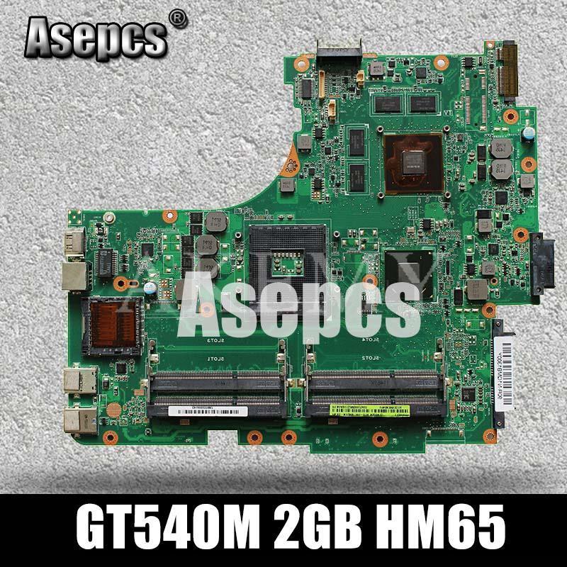 Asepcs N53SN Laptop Motherboard für Asus N53SN N53SM N53SV N53S N53-Test original Mainboard GT540M 2GB HM65