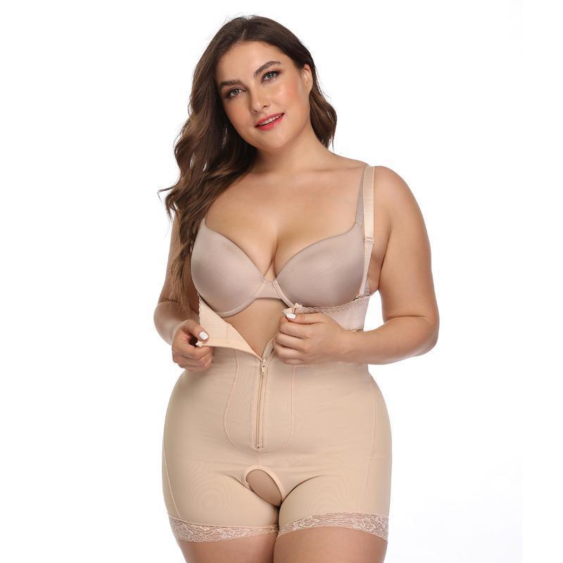 Cintura alta Tummy Controle Calcinhas Slimming cintura instrutor BuLifter Shapewear Seamless Sexy Underwear Corpo Shaper Panty S / 6XL