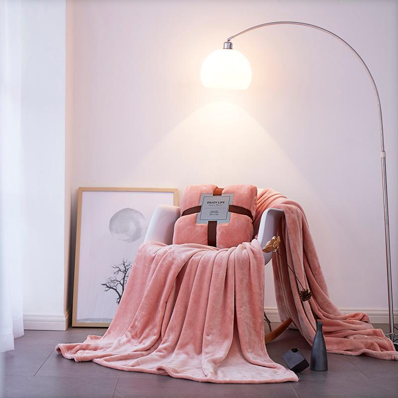 Розовый фиолетовый серый зима мода толстый мягкий флисовый ткань для фланелевых путешествий одеяло вязаные одеяла бархатные теплые кровати диван крышка