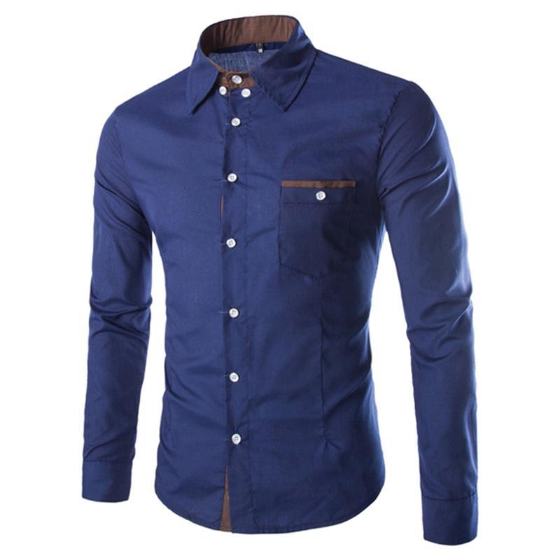 2021 Yeni Coming İngiltere Stil erkek Slim Fit M-2XL Genç Adam Gömlek Tam Kollu Casual Boy Giyim Ücretsiz Kargo