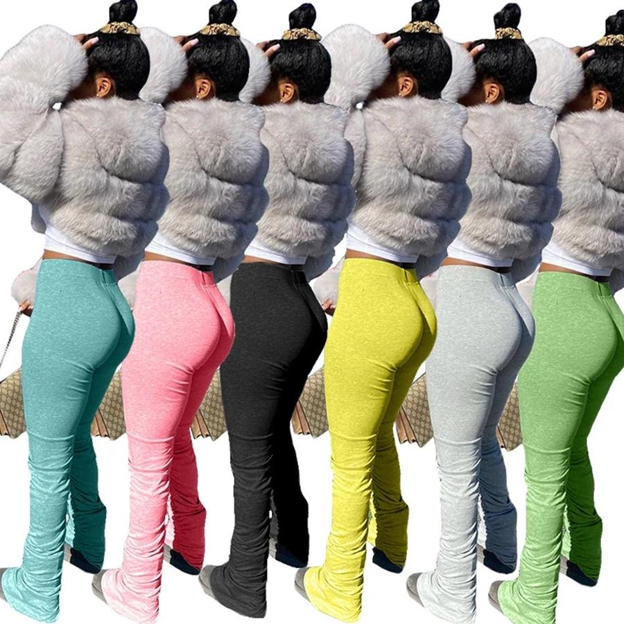 Stacked Leggings Joggers Stacked Sweatpants Women Ruched Pants Legging Jogging Femme Stacked Pants Women Sweat Pants Trousers S-2XL