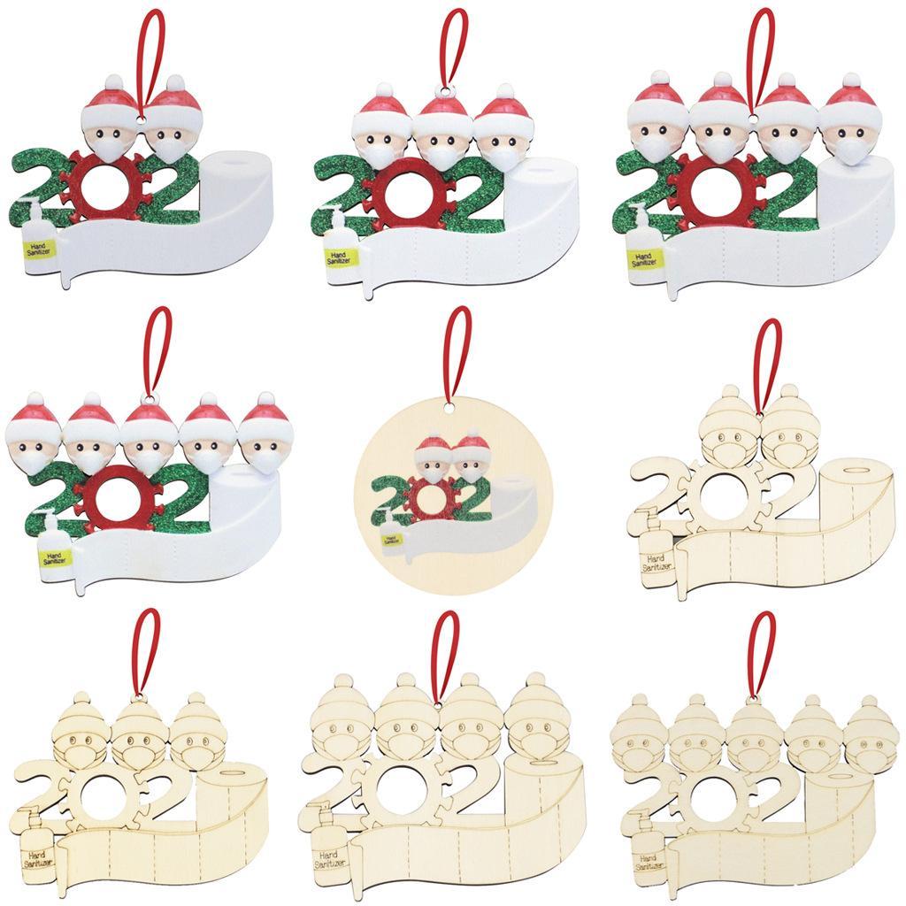 Christmas Decoration DIY Greetings Quarantine Christmas ornaments 2020 Party Pandemic Social Distancing Christmas Tree Pendant Accessories