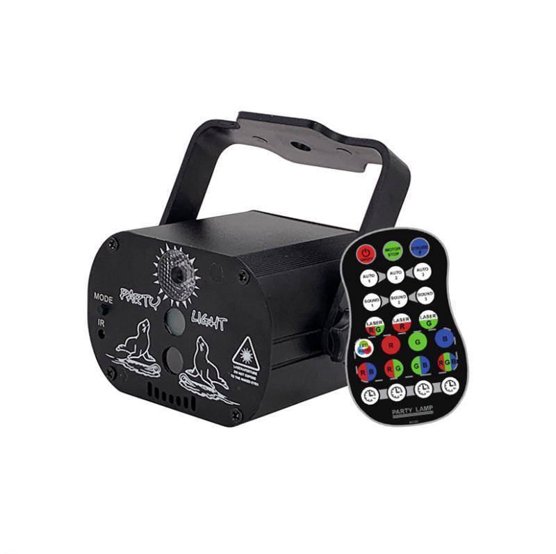 60 motifs Mini Charge USB DJ Disco Light Strobe Partie Strobe Effet Égilibre Voix Contrôle vocal Lampe de projecteur laser pour la piste de danse