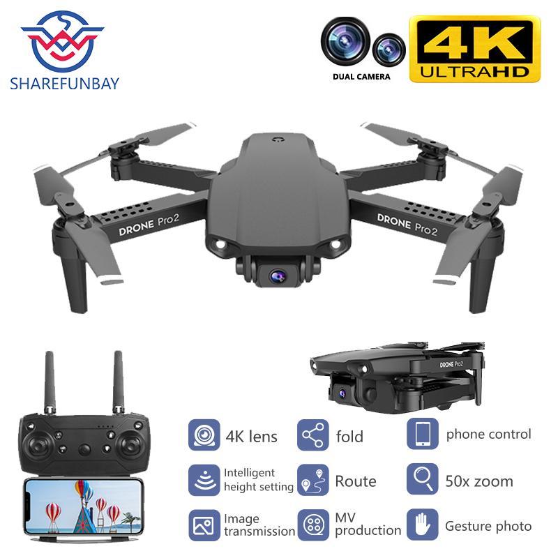 Новый E99 беспилотного 4K HD двойной камеры складную беспилотник с WiFi FPV 1080p передачи в режиме реального времени 50 раз фокус RC Quadcopter 201015